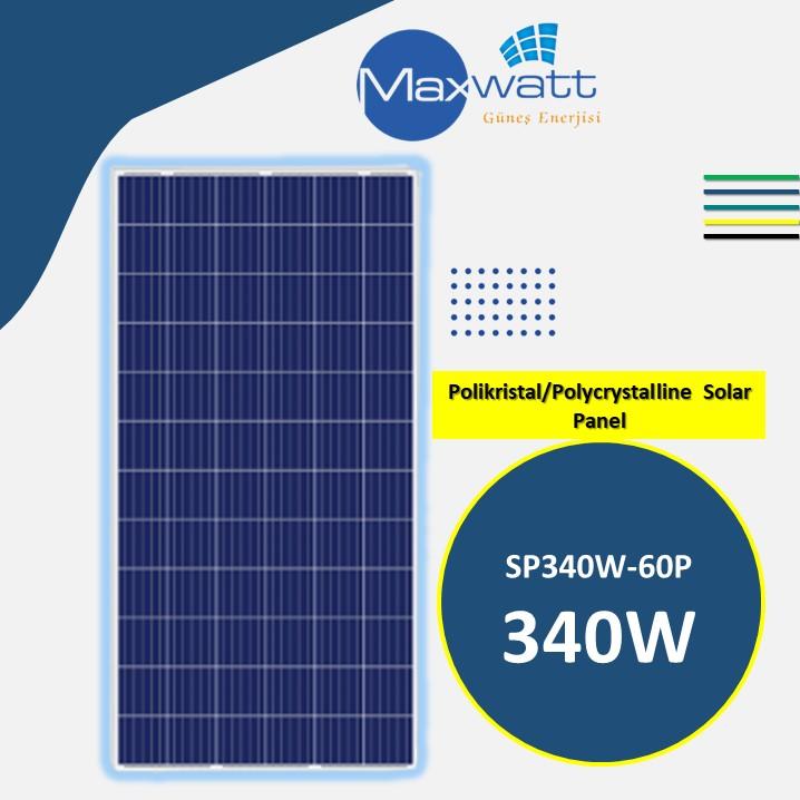 Polikristal Solar Panel 340W 72 Hücre